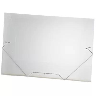 Pasta com aba elástico polipropileno Ofício transparente A02 Plascony PT 1 UN