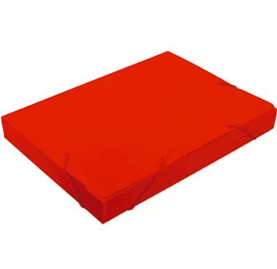 Pasta novaonda ofício 335x245x35mm vermelha Polibrás PT 1 UN