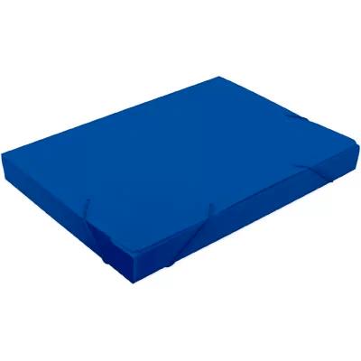 Pasta novaonda universitário 380x276x40mm azul Polibrás PT 1 UN
