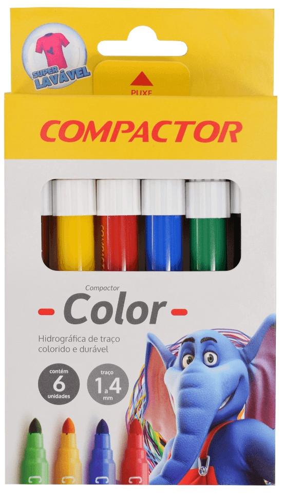 Canetinha Hidrográfico Color Compactor - 6 Cores