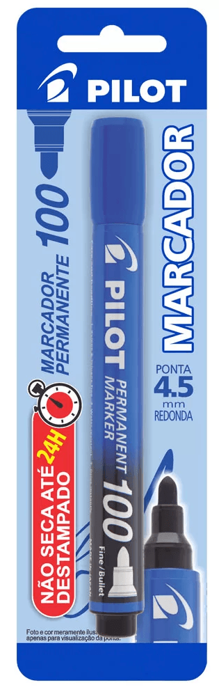 Pincel marcador permanente 4.5mm redondo SCA 100 azul Pilot BT 1 UN