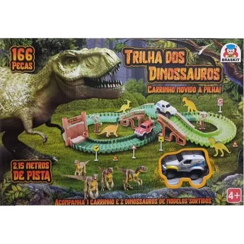 Pista Trilha dos dinossauros com Carrinho - Braskit