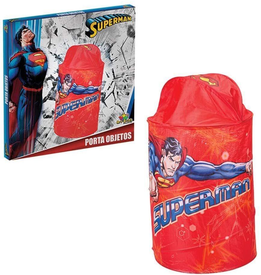 Porta Objetos Super Homem Man Organizador De Brinquedos - ART BRINK