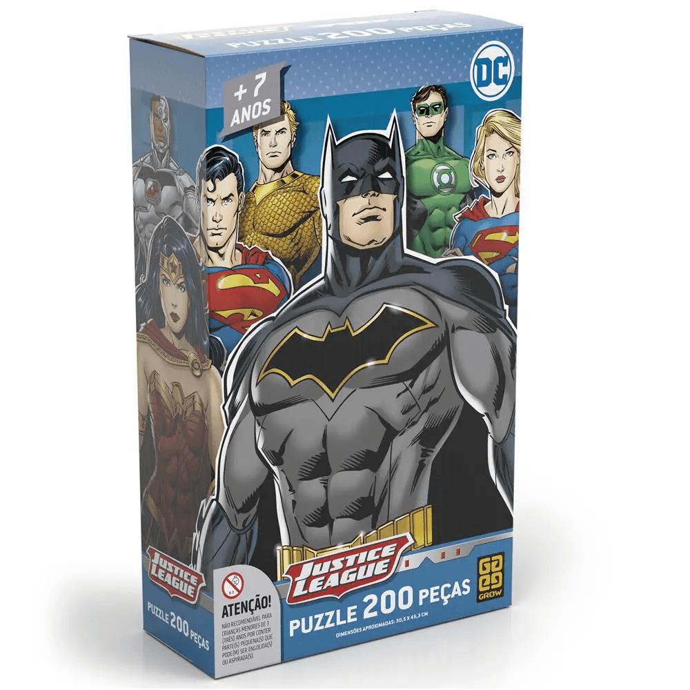 Puzzle Quebra Cabeça 200 Peças Liga da Justiça Batman Grow
