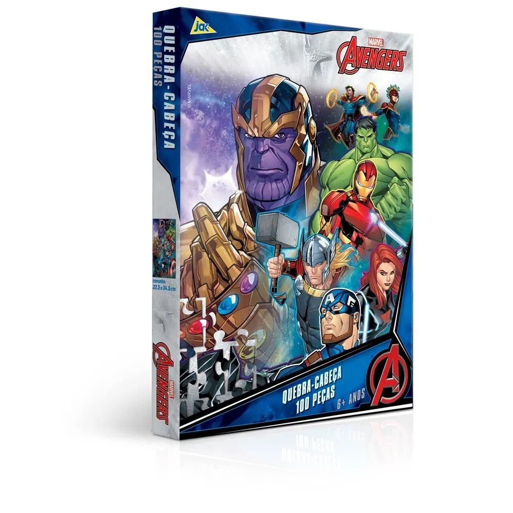 Quebra-Cabeça 100 Peças - Vingadores - Toyster