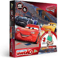 Quebra-cabeça 48 peças Grandão Carros Disney - Toyster