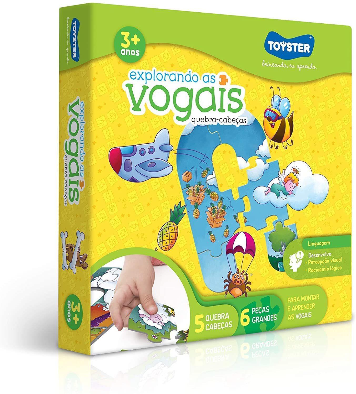 Quebra-cabeça - Explorando As Vogais - Toyster