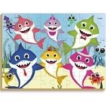 Quebra-Cabeça Gigante Clube Shark - em madeira 48 peças - Brincadeira de Criança