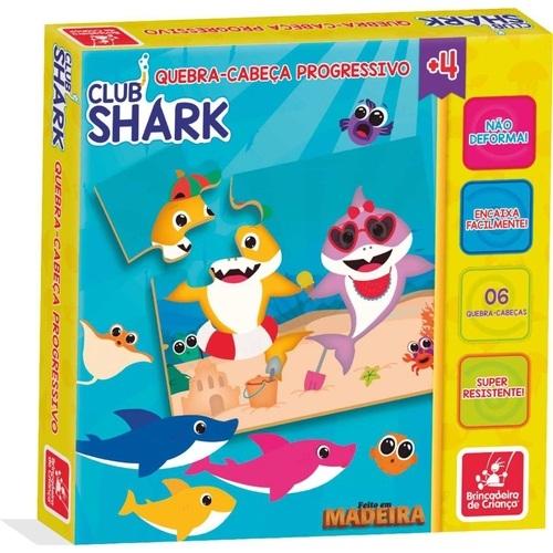 Quebra-Cabeça Progressivo em madeira Club Shark - Brincadeira de criança