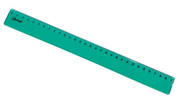 Régua Acrílica 30cm Verde - Acrinil