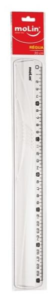 Régua Acrílico 30 Centímetros Molin - Unitário