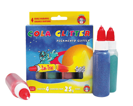 Cola colorida glitter - Zas Traz
