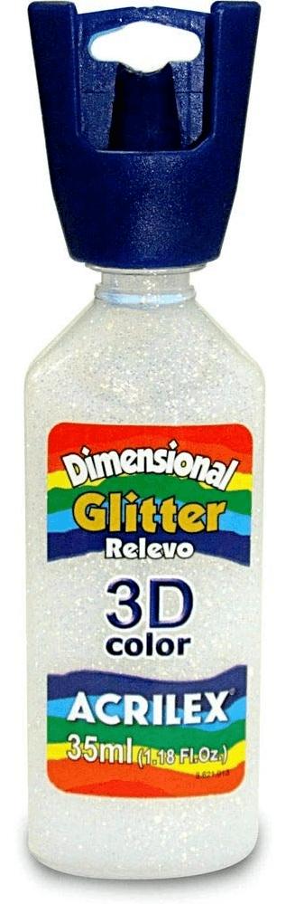 Tinta Dimensional Glitter 3D Relevo 35ml Cristal Acrilex