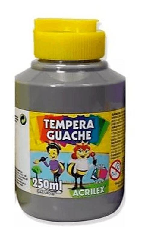 Tinta guache 250 ml cinza Acrilex PO 1 UN