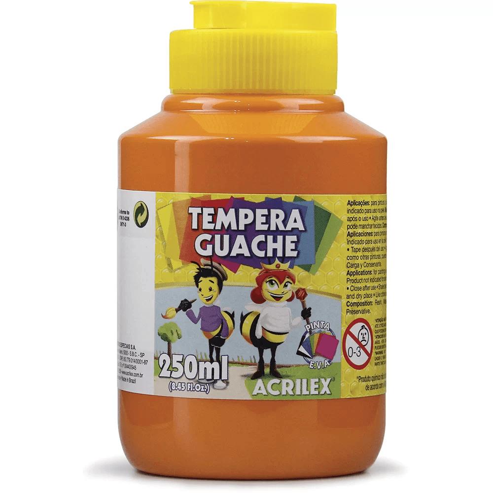 Tinta guache 250 ml laranja Acrilex PO 1 UN