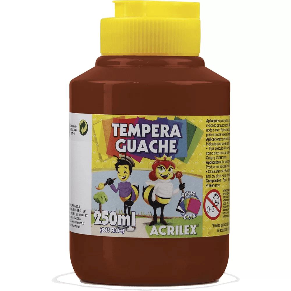 Tinta guache 250 ml marrom Acrilex PO 1 UN