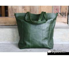 0877.3837.8889 (XL), Tas Kulit Wanita Tomoko Large on Green