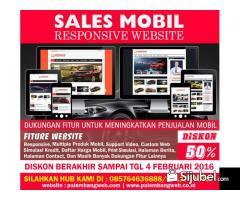Website Sales Mobil Promo 50% | Jasa Pembuatan Website