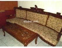 Jual kursi dan meja asli kayu jati