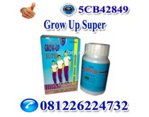 Obat Peninggi Badan Grow up Super call 0812 2622 4732
