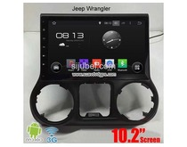 Jeep Wrangler car pc radio DAB+ android wifi 3G gps navi 10.2inch multimedia