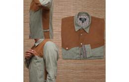 (Danny Salvage) Dry Denim Jackston Jaket Bohemian Retro Vintage Jeans