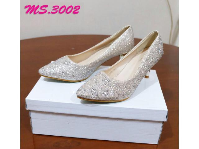 sepatu heel pesta wanita kantor kedja import mylo ms3002 high qlty - 1/1