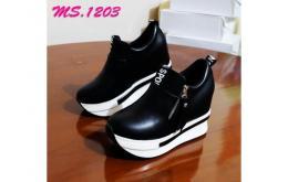 sepatu casual wedges slip on sneaker import mylo ms1203