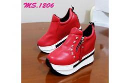 sepatu casual wedges slip on sneaker import mylo ms1206
