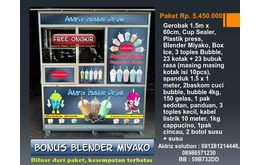 Paket Kemitraan lengkap bubble Drink + Bonus Blender Miyako