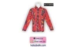 Baju Muslim, Kemeja Batik, Kemeja Batik Pria, MJ118KM
