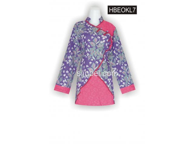 Blus Batik Modern, Grosir Busana, Busana Batik, HBEOKL7 - 1/1
