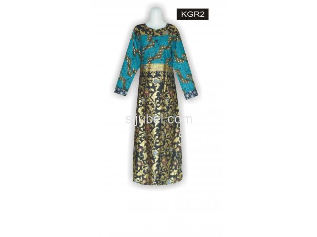 Gambar Model Batik, Harga Baju Gamis Batik, Batik Gamis Grosir, KGR2 - 1/1