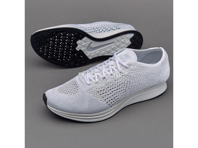 Sepatu Nike Flyknit Racer White Sail Pure Platinum - 2/2