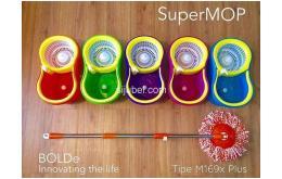 Super Mop M169X+ Alat Pel Berputar 360° Spinmop Original By Bolde
