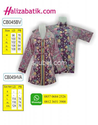 Belanja Batik Online, Baju Batik Muslim, Batik Fashion, CB045SBVA - 1/1