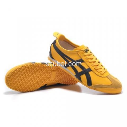 Sepatu Asics Onitsuka Tiger Mexico 66 Yellow Black DL408 - 1/3