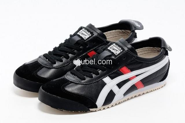 Sepatu Asics Onitsuka Tiger Mexico 66 Black White Red D4J2L - 1/3