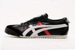 Sepatu Asics Onitsuka Tiger Mexico 66 Black White Red D4J2L - Gambar 2/3