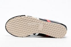 Sepatu Asics Onitsuka Tiger Mexico 66 Black White Red D4J2L - Gambar 3/3