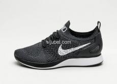 Sepatu Nike Air Zoom Flyknit Racer Mariah Black White