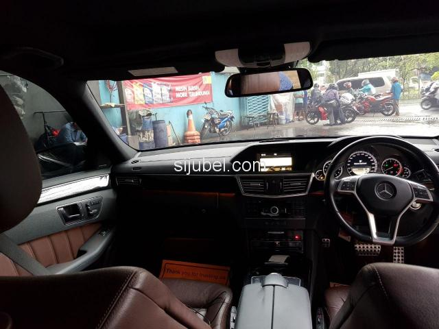 Dijual Mercy E300 Avantgarde AMG 2013 Black on Brown - 7/9
