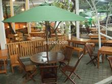 MEJA PAYUNG CAFE (UMBRELLA TABLE SET) NEW YEAR SALE up to 50%!!