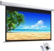 layar proyektor motorized ukuran 70