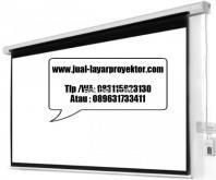 jual motorized layar proyektor