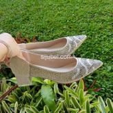 sepatu pesta wanita heels kotak 4 cm import