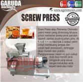 Mesin Screw Press Otomatis (pemeras Otomatis)