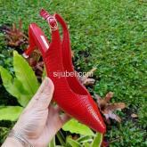 heels pendek merah sepatu wanta import