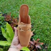 heels kotak sandal selop wanita import