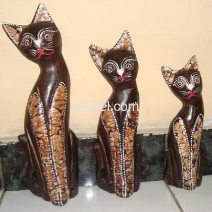 Jual Patung Kucing 1 Set Murah - 1/1